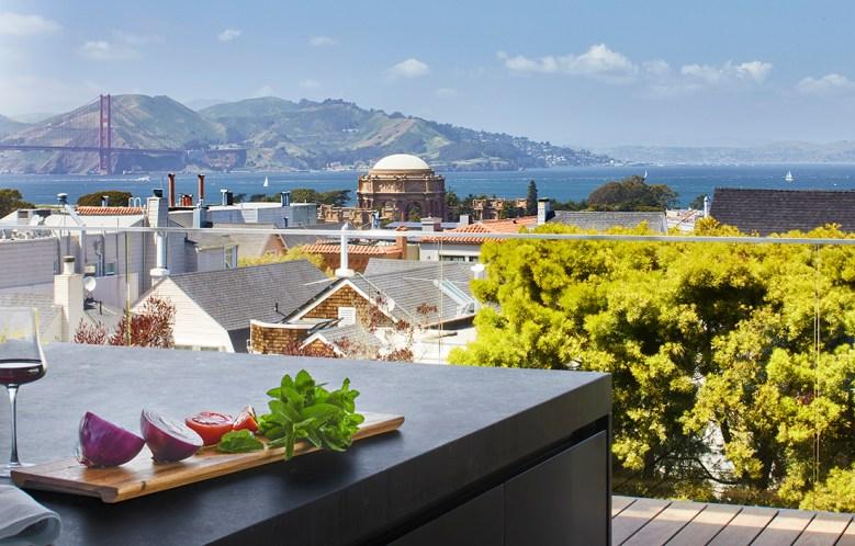 Bay view at San Francisco wellness estate