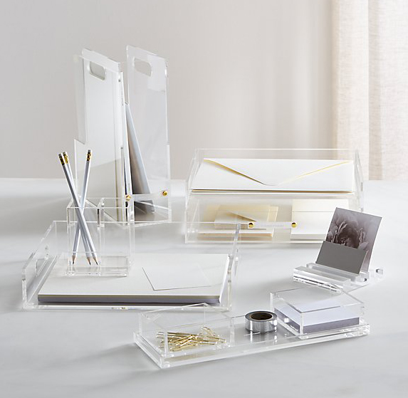 Russel + Hazel Acrylic Desk set to get organized