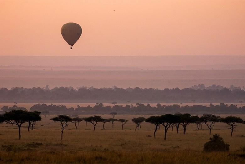 hot air balloon luxury african safari