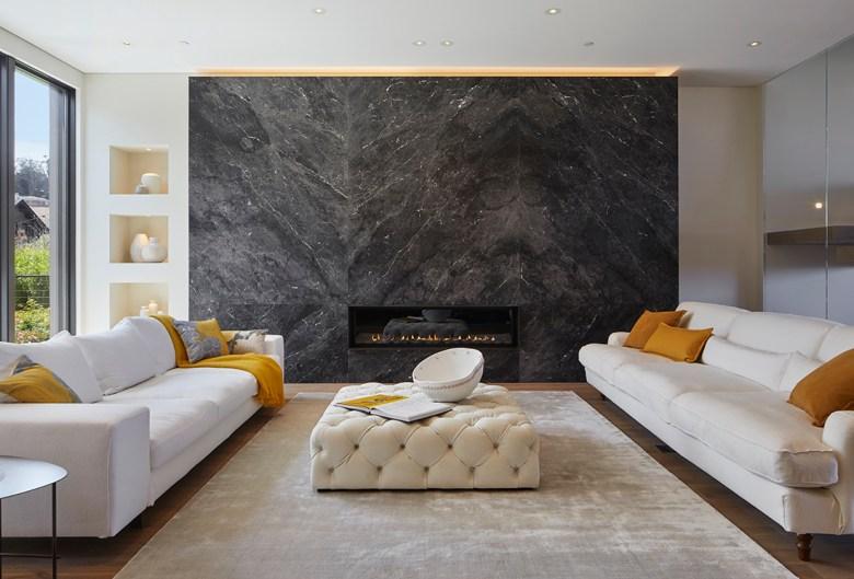 modern living room in wellness estate