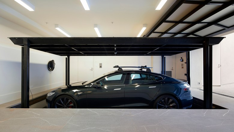 tech garage in San Francisco wellness estate
