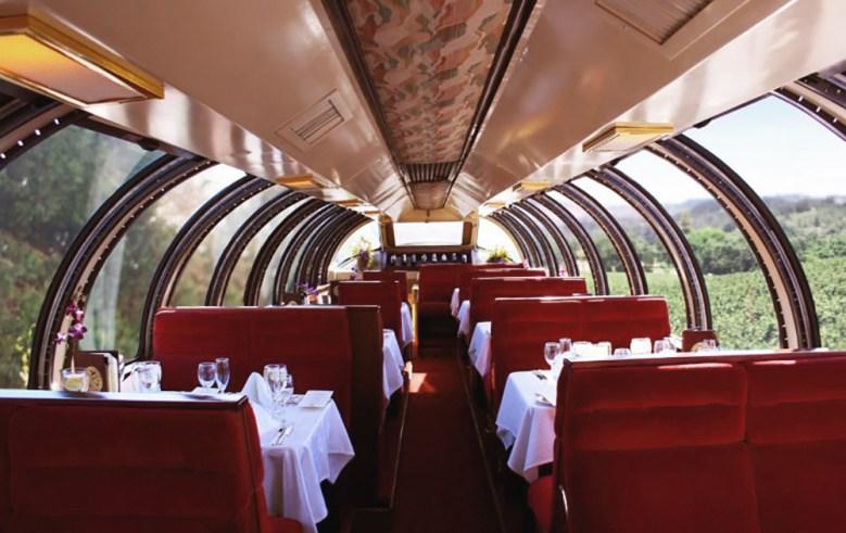 Dome view car on Napa Valley Wine Train