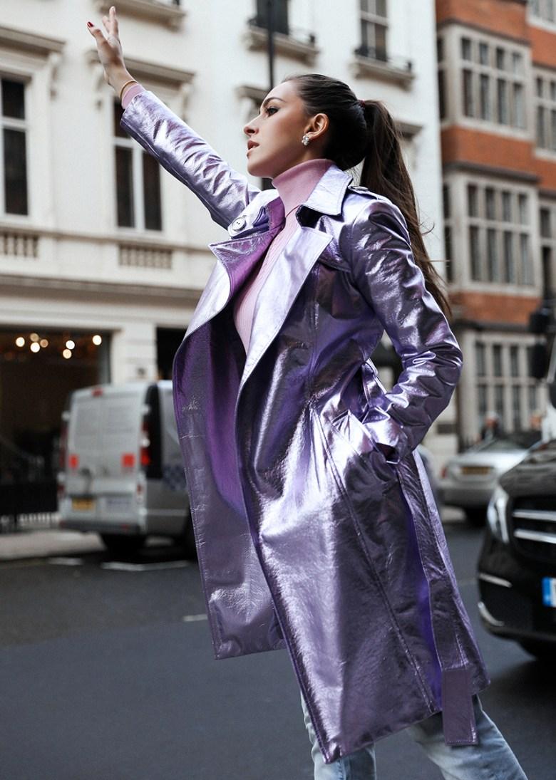 LiaMo lavendar trench coat