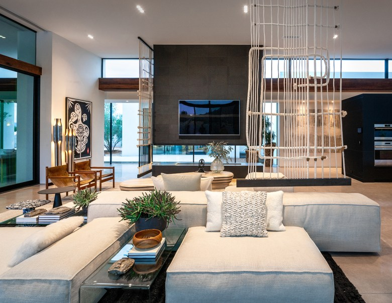 Virtual House Tour of Living Room at ICONIC HAUS 2020