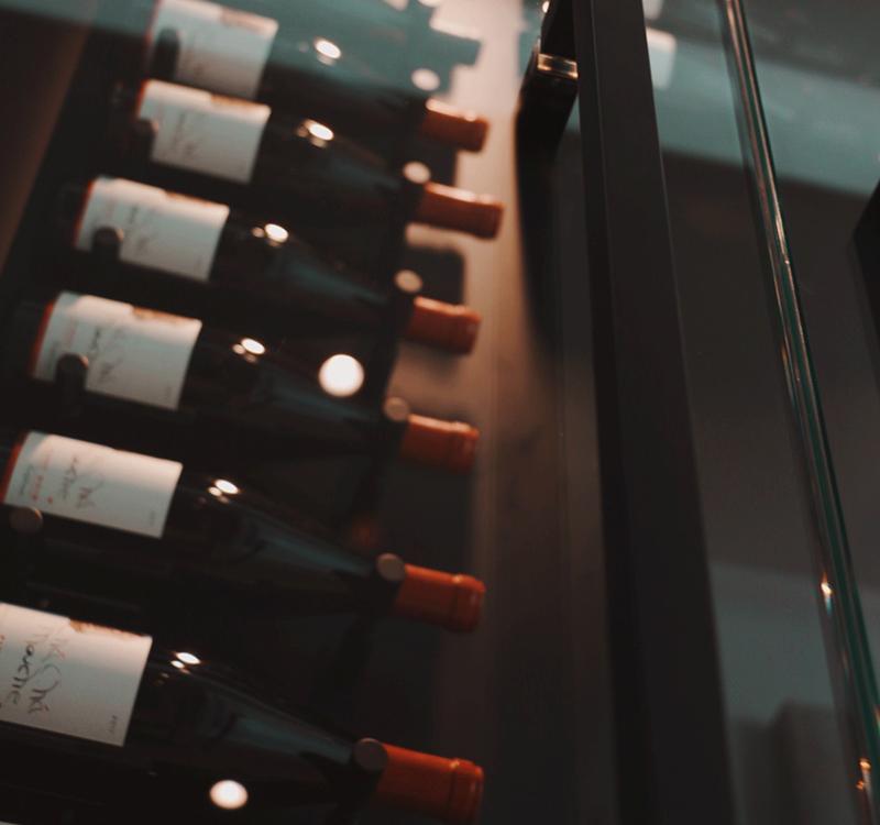 modern wine cellar at ICONIC HAUS