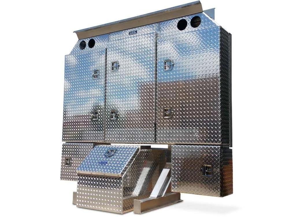 semi truck enclosed headache racks