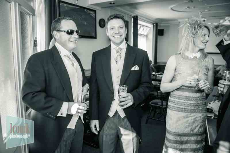 plymouth wedding photographer with groom before ceremony