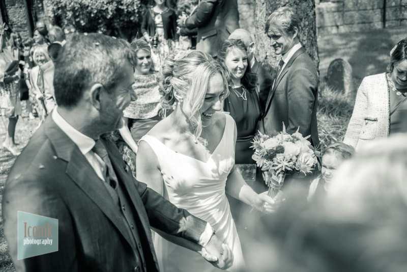 fun modern wedding photography in Devon and Cornwall