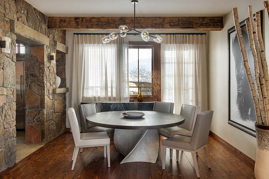 Professionally designed dining area