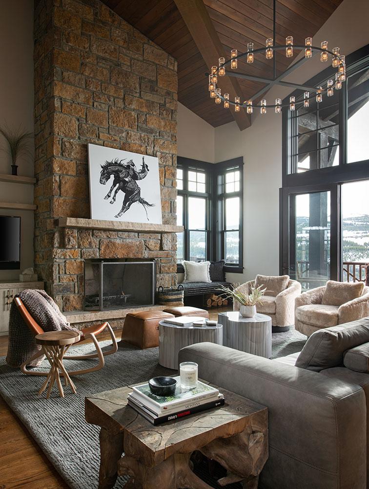 Southern Sky Living Room Fireplace