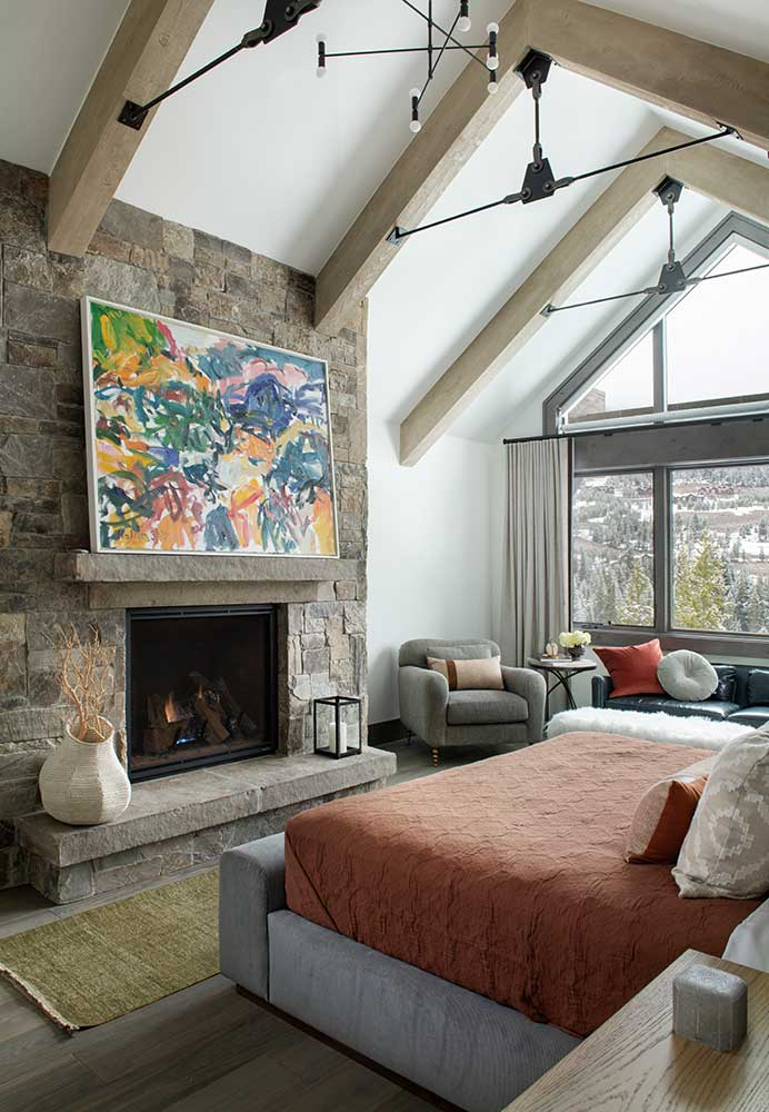 Master Bedroom with Large Art