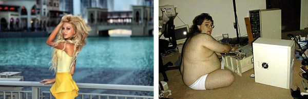 Left: The photo that 'Olga' sent me. Right: Likely the 'real' Olga