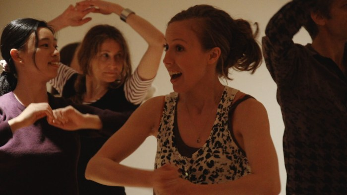 Delphine Leroux teaching a impromptu dance class @ FUSE