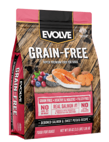 EVOLVE DOG GRAIN FREE SALMON 12 LB - 5.44 KG