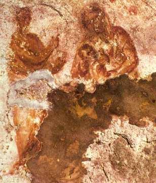 Cat. Priscilla. La Madre de Dios con el profeta Balaam. Cubiculo Del Buen Pastor. Siglo III.