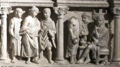 S. Junio Basso. Cristo delante de Pilatos.