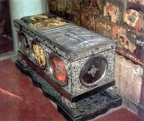 Sepulcro donde se encuentran los restos de Santa Catalina, Monasterio del Sinai, Egipto