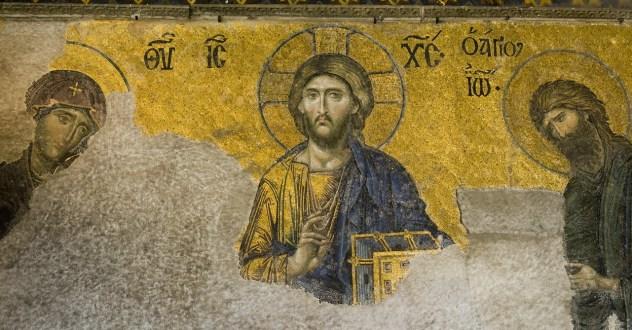 Cristo Pantocrátor, de Santa Sofía de Constantinopla, Estambul.