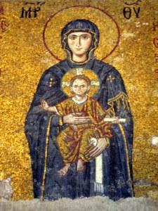 Virgen con el Niño, mosaico de Santa Sofía.