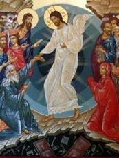 Icono ortodoxo rumano de la Anástasis (resurrección) - copia