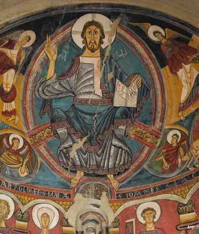 Cristo Pantocrátor de S. Clemente de Tahull.