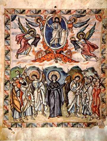 Evangelio de Rabbula, Ascensión del Señor, s. VI.