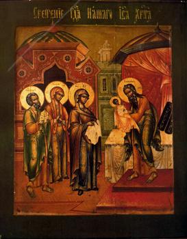 VIII. Presentación de Jesús en el Templo, icono, sur de Rusia, s. XVIII-XIX, colección privada.