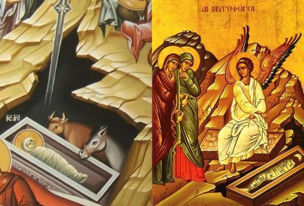 The Womb and The Tomb in The Nativity Icon