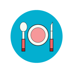 icon eating dinner eat restaurant kitchen cooking recipes healthy apptopia app