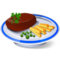 steak icon buffet icons desktop aha soft