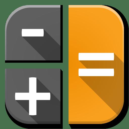 apps calc icon flatwoken