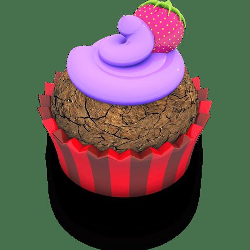 Berry Cupcake Icon  Aka Acid Cake Iconset  Archigraphs