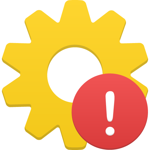 process warning icon flatastic