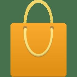 shopping bag icon orange cart icons custom business basket clipart webshop ecommerce desiderata flatastic format softicons file freepngimg tag