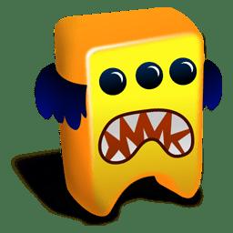 Orange creature Icon Creatures Iconset Fast Icon Design