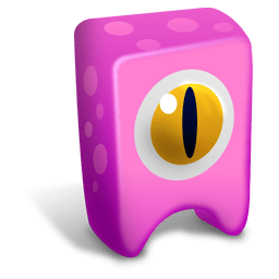 Pink creature Icon Creatures Iconset Fast Icon Design