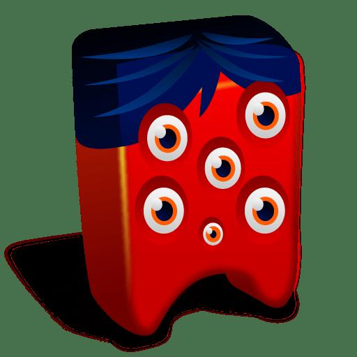 Red creature Icon Creatures Iconset Fast Icon Design