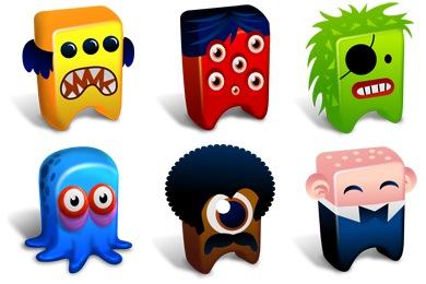 Creatures Iconset 12 icons Fast Icon Design