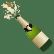 Champagne Bottle Popping Emoji