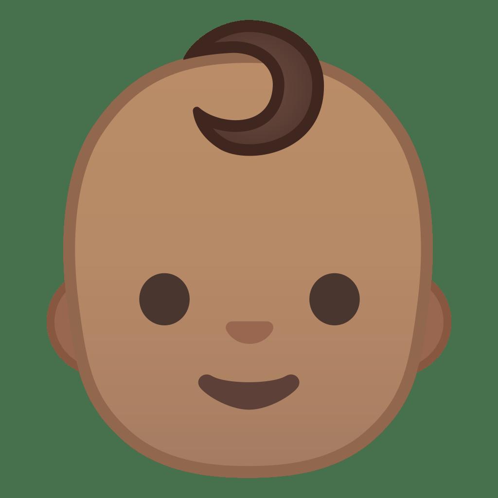 Baby medium skin tone Icon | Noto Emoji People Faces ...