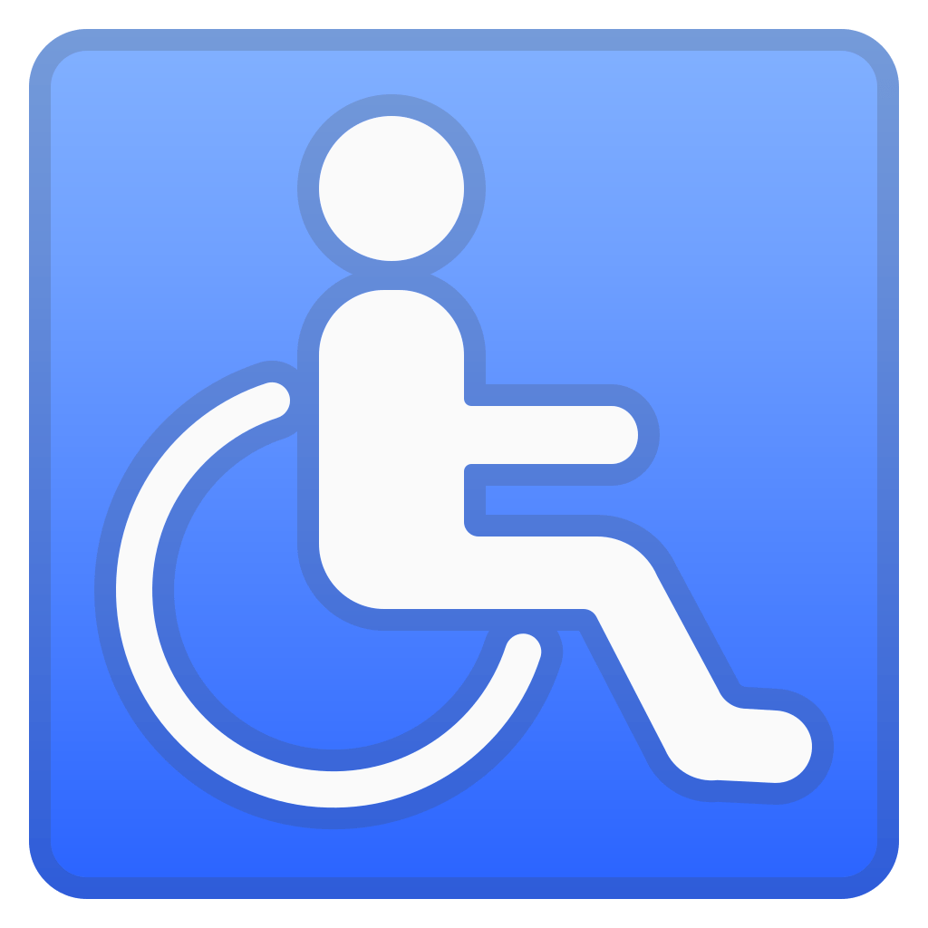 wheelchair emoji black chair covers wedding symbol icon noto symbols iconset google