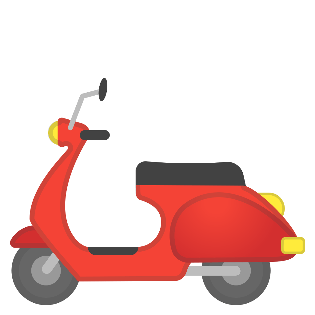 motor scooter icon noto