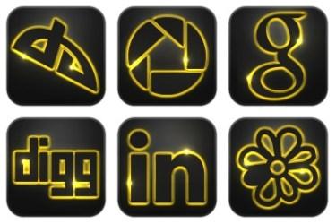 neon glow social icons vibe artist