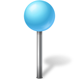 map marker ball azure