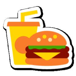 icon food fast icons sticker app swarm sonya