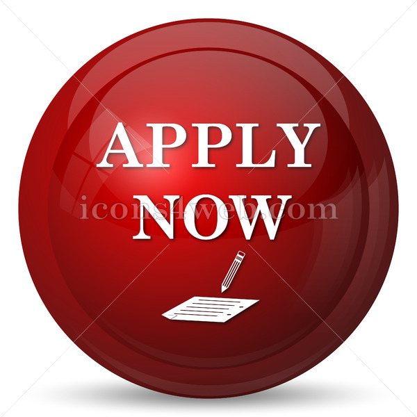 Apply now icon. Apply now website button on white background. - Icons for your website