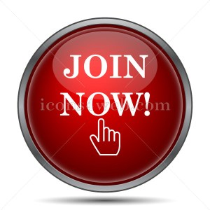 Join now icon. Join now website button on white background. - Icons for your website