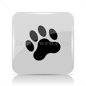 Paw print icon. Paw print website button on white background. - Icons for your website
