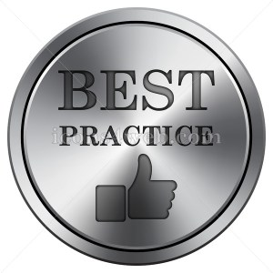 Best practice icon. Round icon imitating metal. - Icons for your website