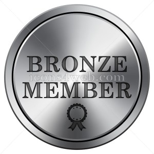 Bronze member icon. Round icon imitating metal. - Icons for your website